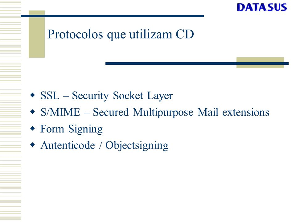 Protocolos que utilizam CD