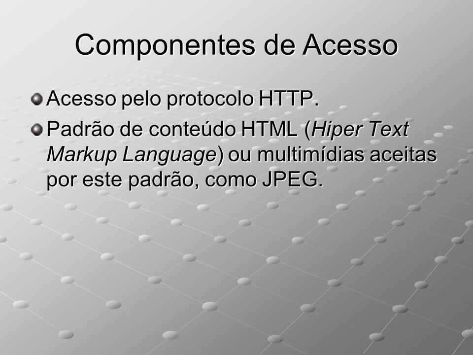 Componentes de Acesso Acesso pelo protocolo HTTP.