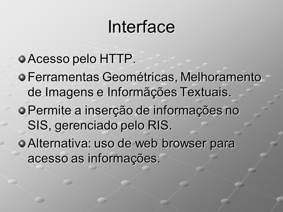 Interface Acesso pelo HTTP.
