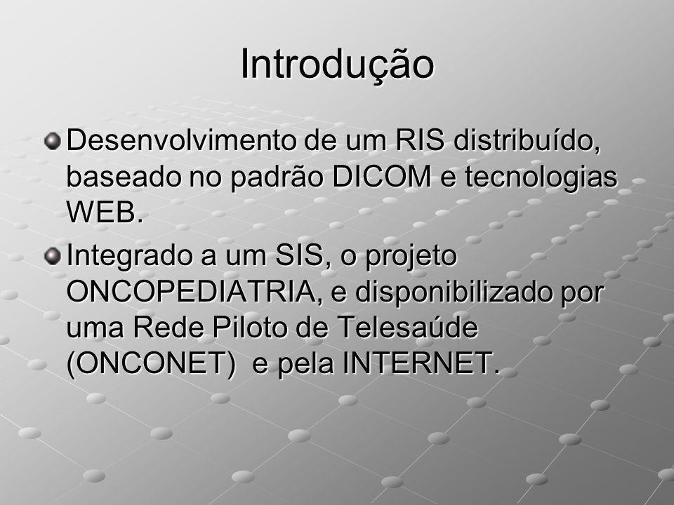 Introdução Desenvolvimento de um RIS distribuído, baseado no padrão DICOM e tecnologias WEB.
