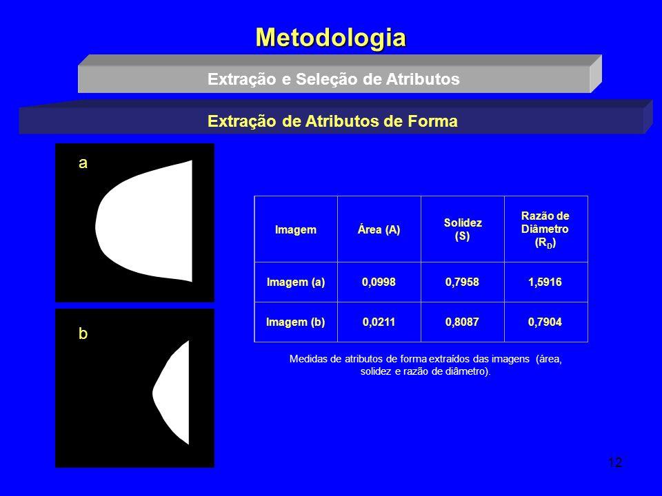 Extração e Seleção de Atributos Extração de Atributos de Forma