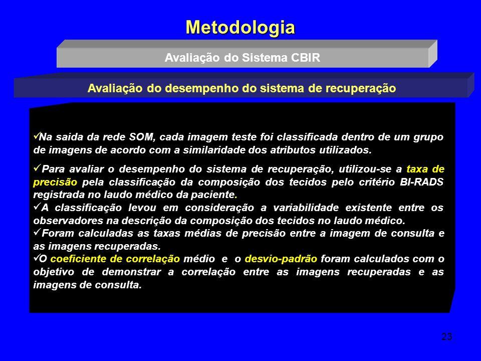 Metodologia Avaliação do Sistema CBIR