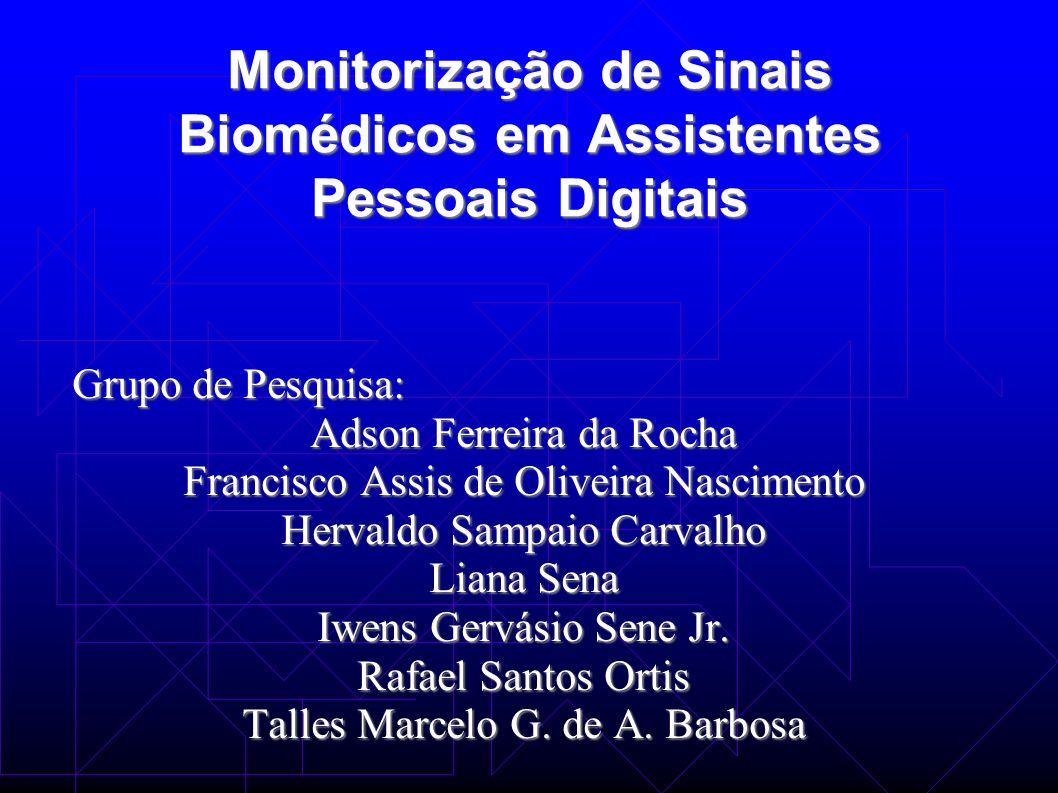 Monitorização de Sinais Biomédicos em Assistentes Pessoais Digitais