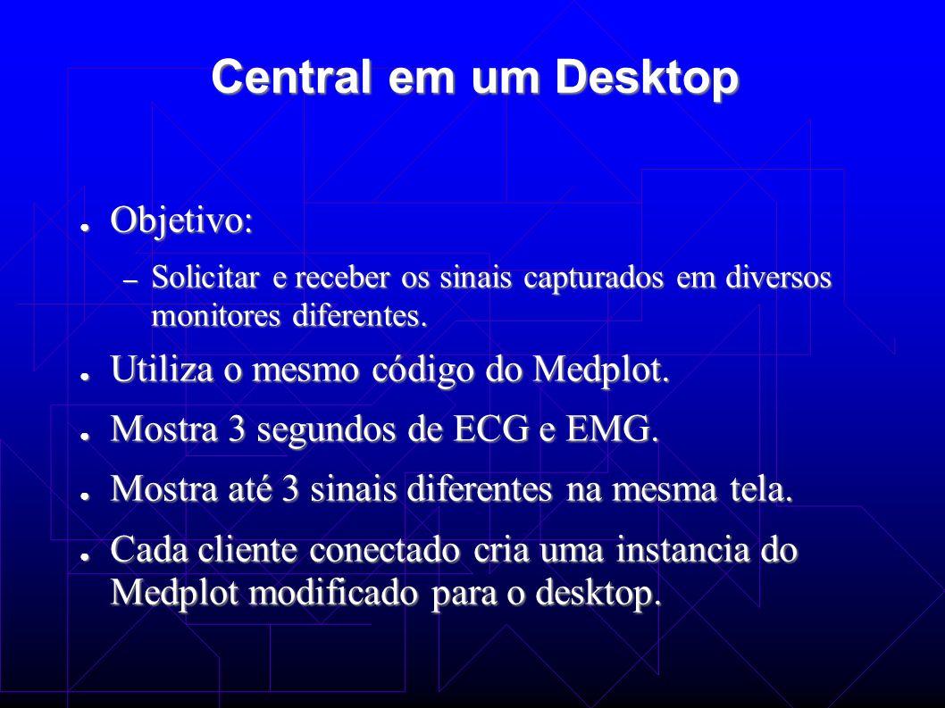Central em um Desktop Objetivo: Utiliza o mesmo código do Medplot.