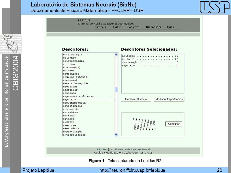 Projeto Lepidus http://neuron.ffclrp.usp.br/lepidus