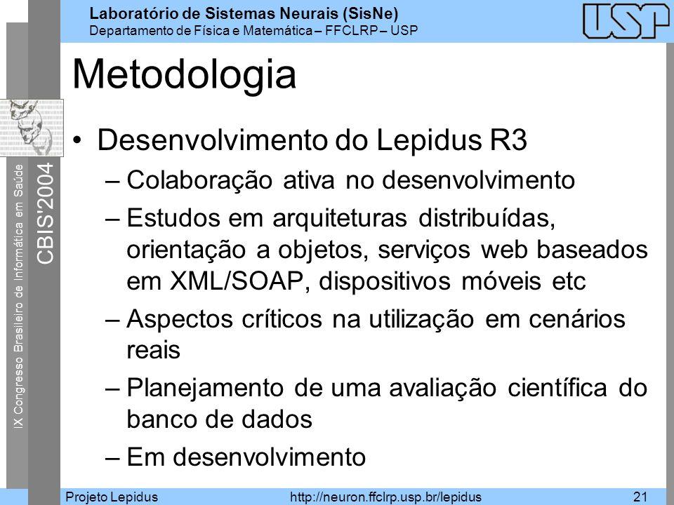 Metodologia Desenvolvimento do Lepidus R3