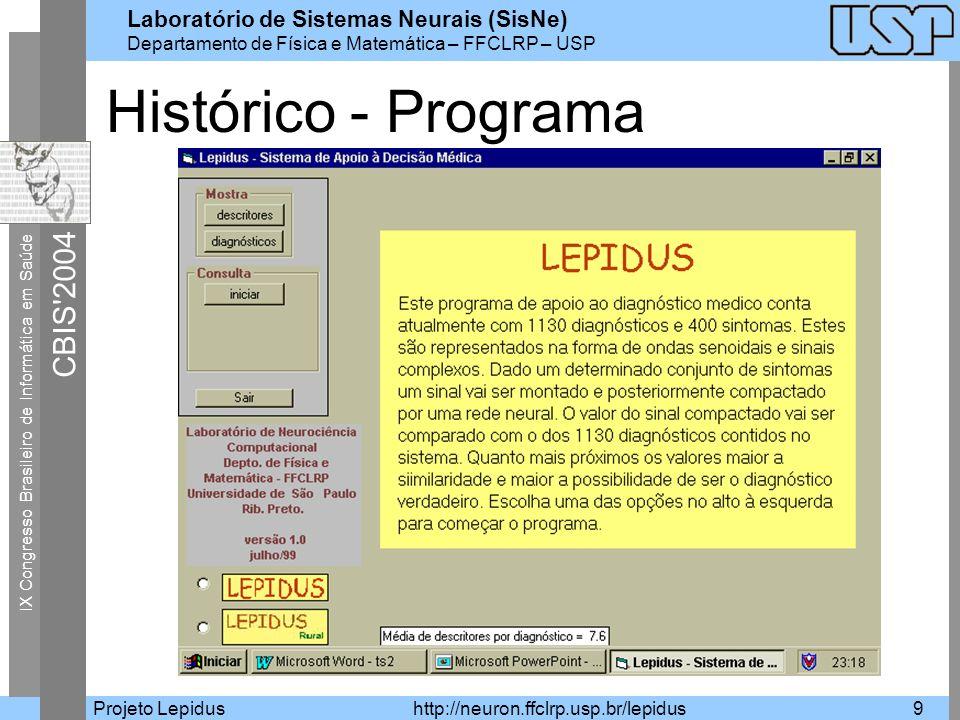 Histórico - Programa Projeto Lepidus
