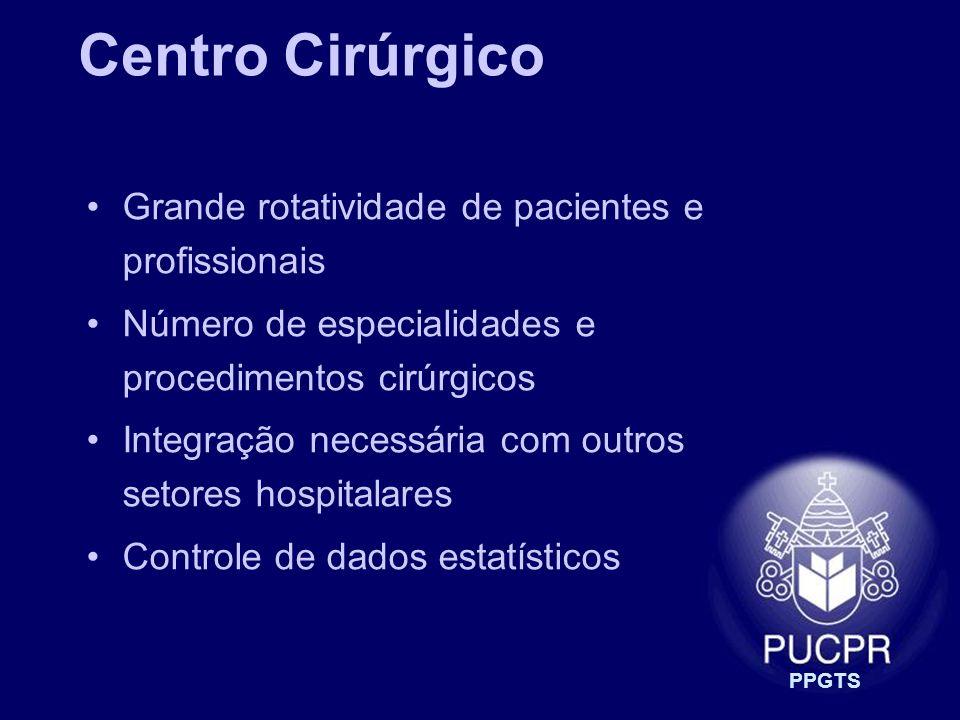 Centro Cirúrgico Grande rotatividade de pacientes e profissionais