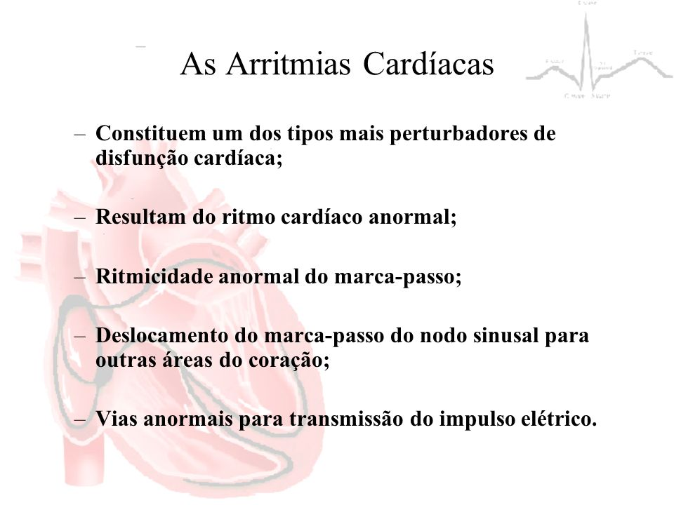 As Arritmias Cardíacas