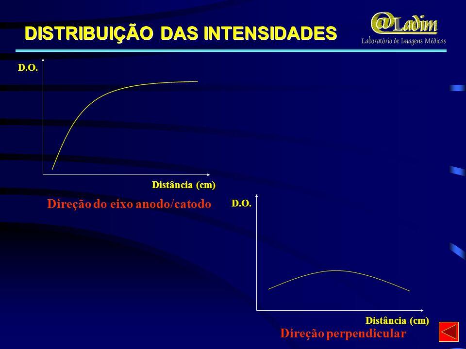 Direção do eixo anodo/catodo Direção perpendicular