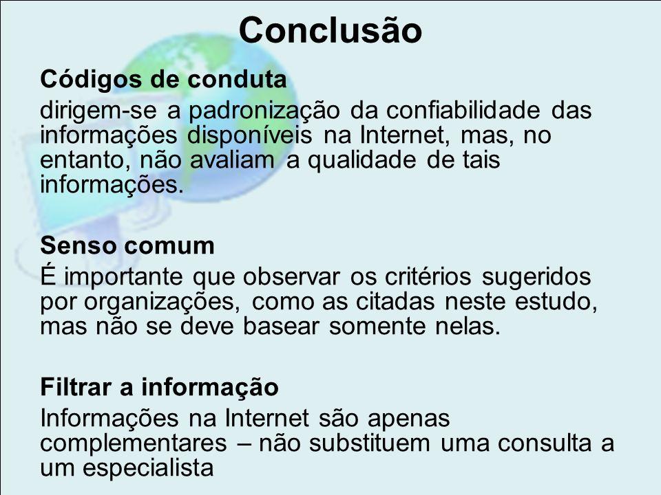 Conclusão Códigos de conduta