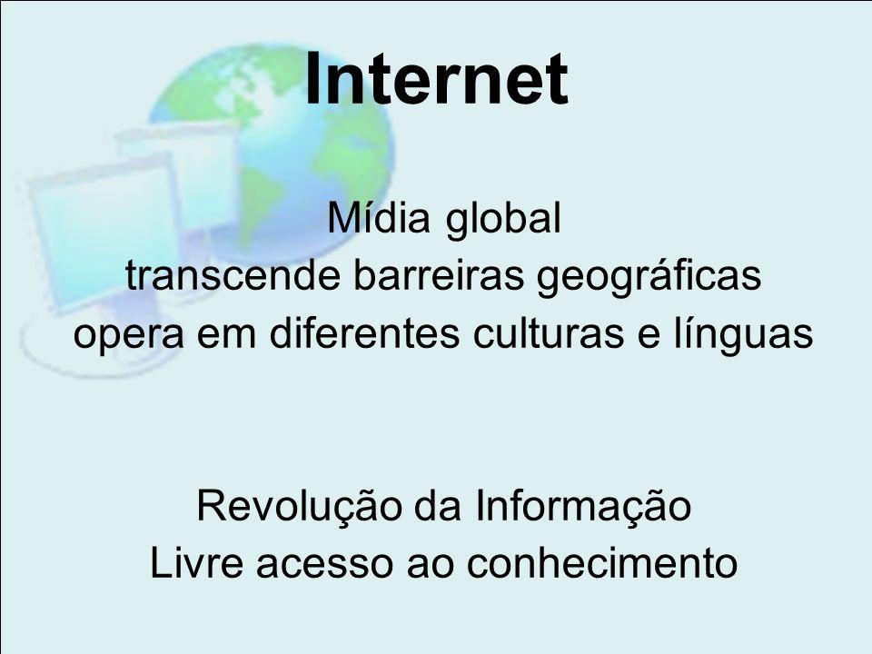 Internet Mídia global transcende barreiras geográficas
