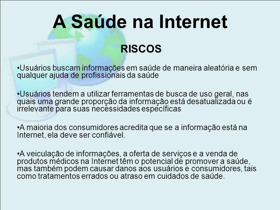 A Saúde na Internet RISCOS