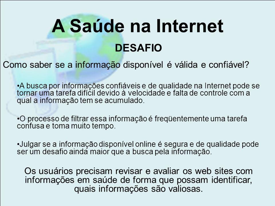 A Saúde na Internet DESAFIO
