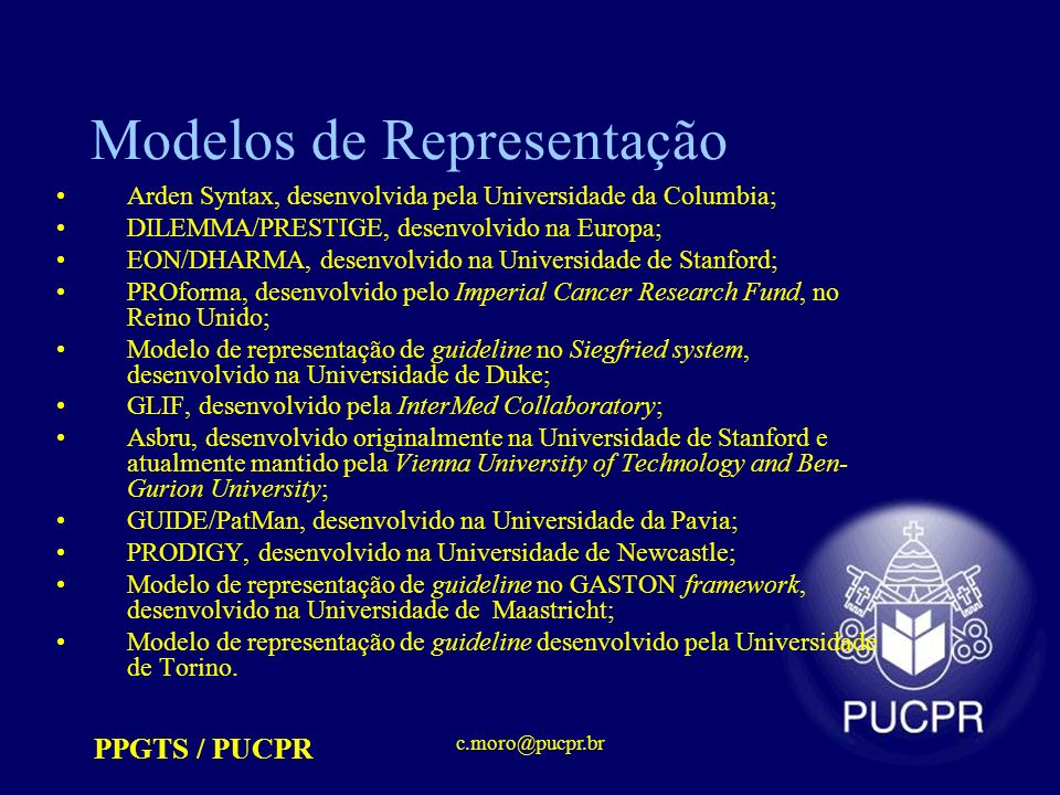 Modelos de Representação