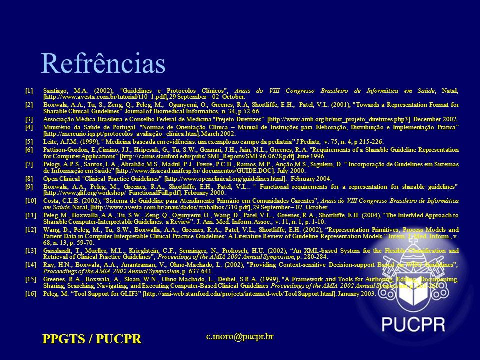 Refrências PPGTS / PUCPR