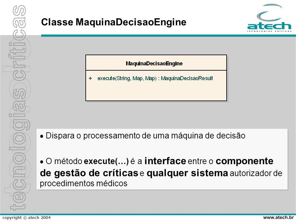 Classe MaquinaDecisaoEngine