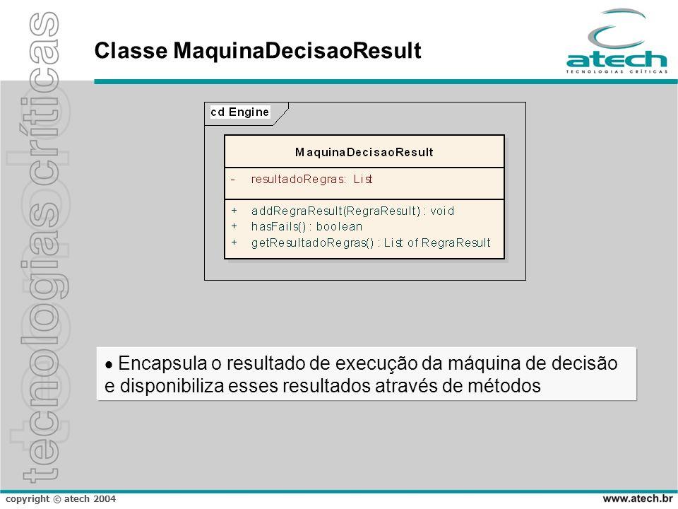 Classe MaquinaDecisaoResult