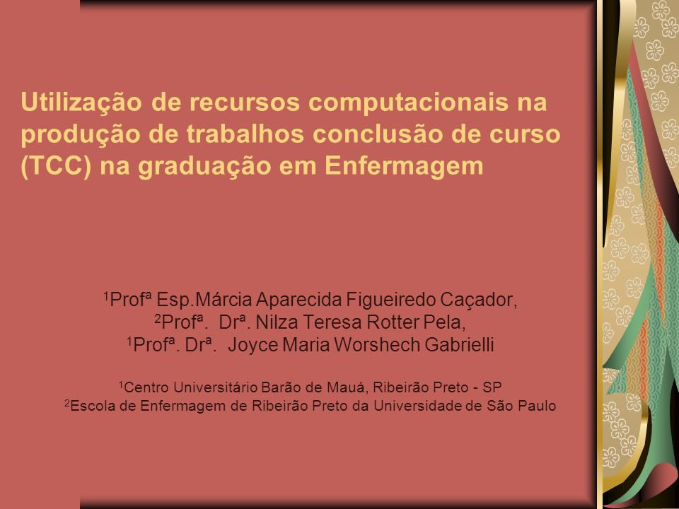 Utilização de recursos computacionais na produção de trabalhos conclusão de curso (TCC) na graduação em Enfermagem