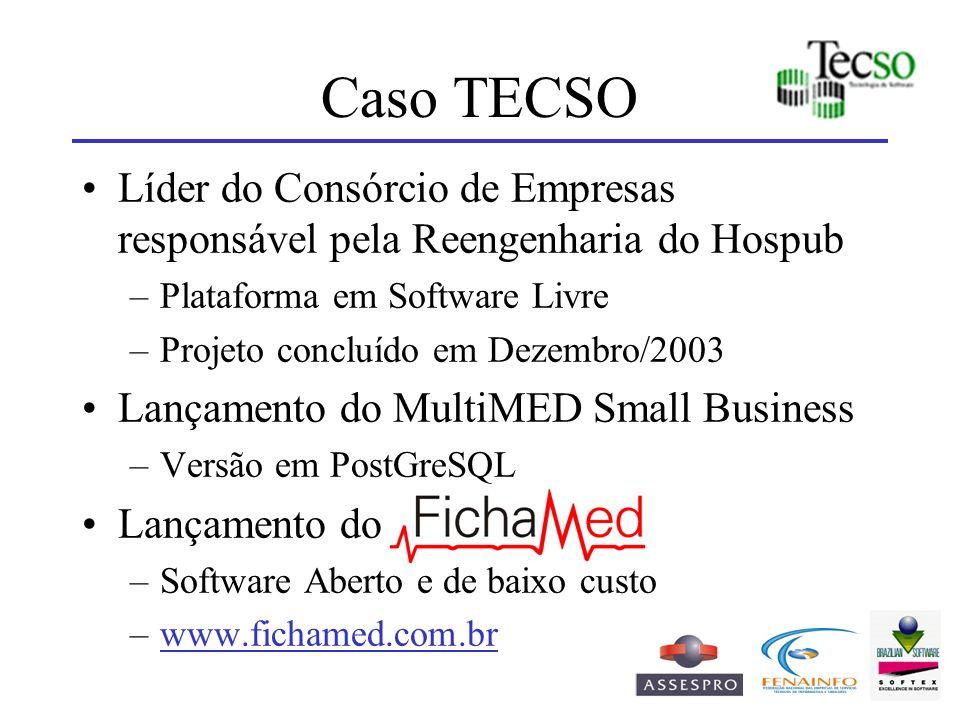 Caso TECSO Líder do Consórcio de Empresas responsável pela Reengenharia do Hospub. Plataforma em Software Livre.