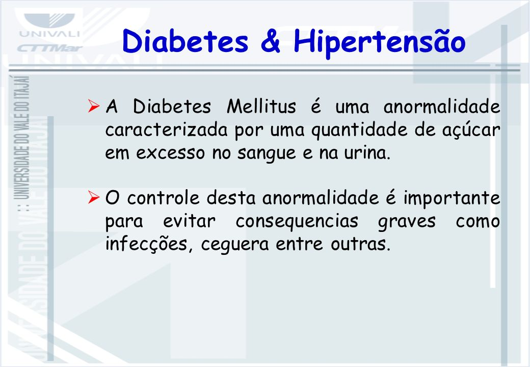 Diabetes & Hipertensão