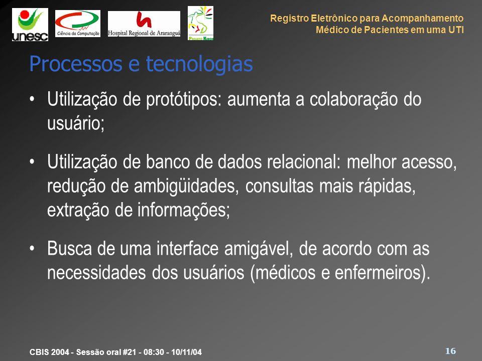Processos e tecnologias
