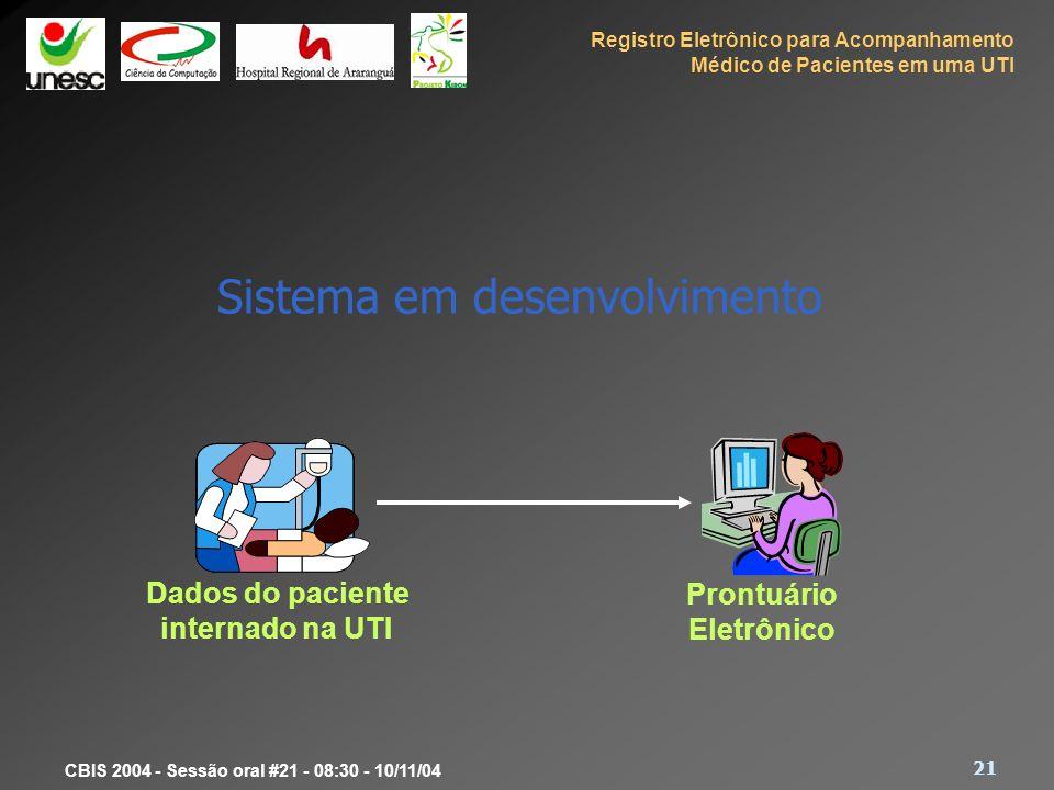 Sistema em desenvolvimento
