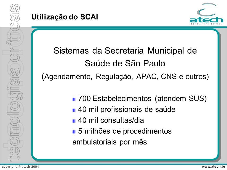 Sistemas da Secretaria Municipal de Saúde de São Paulo