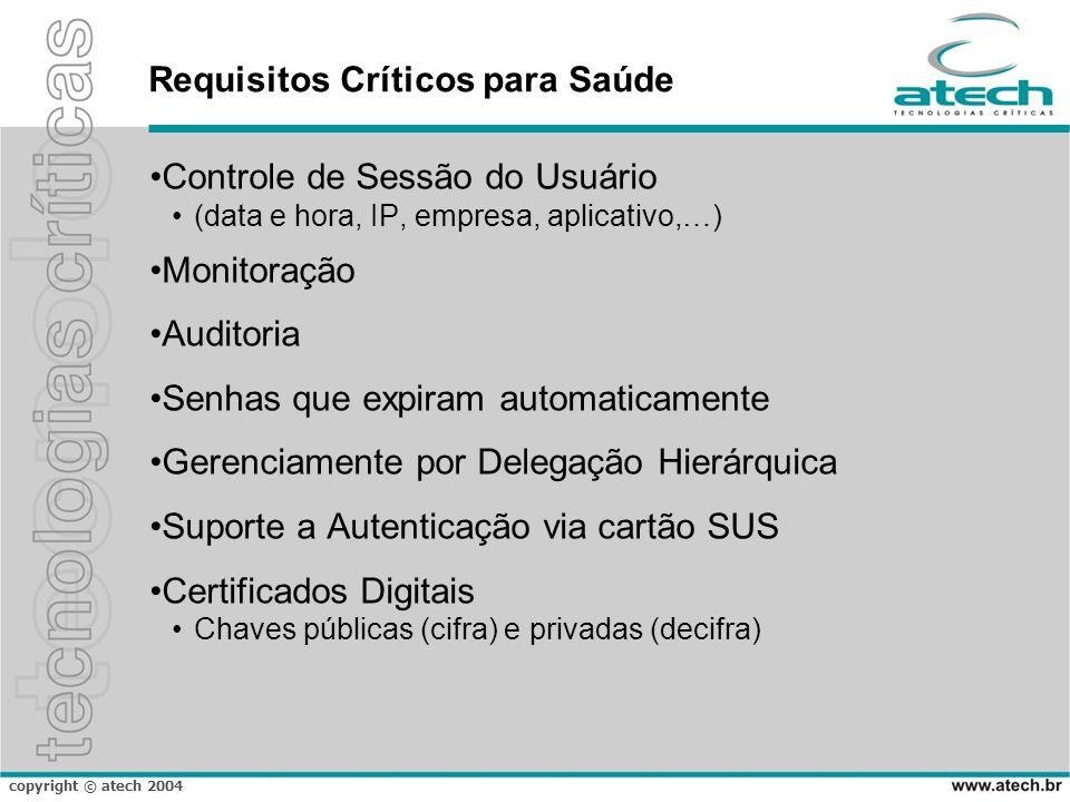 Requisitos Críticos para Saúde