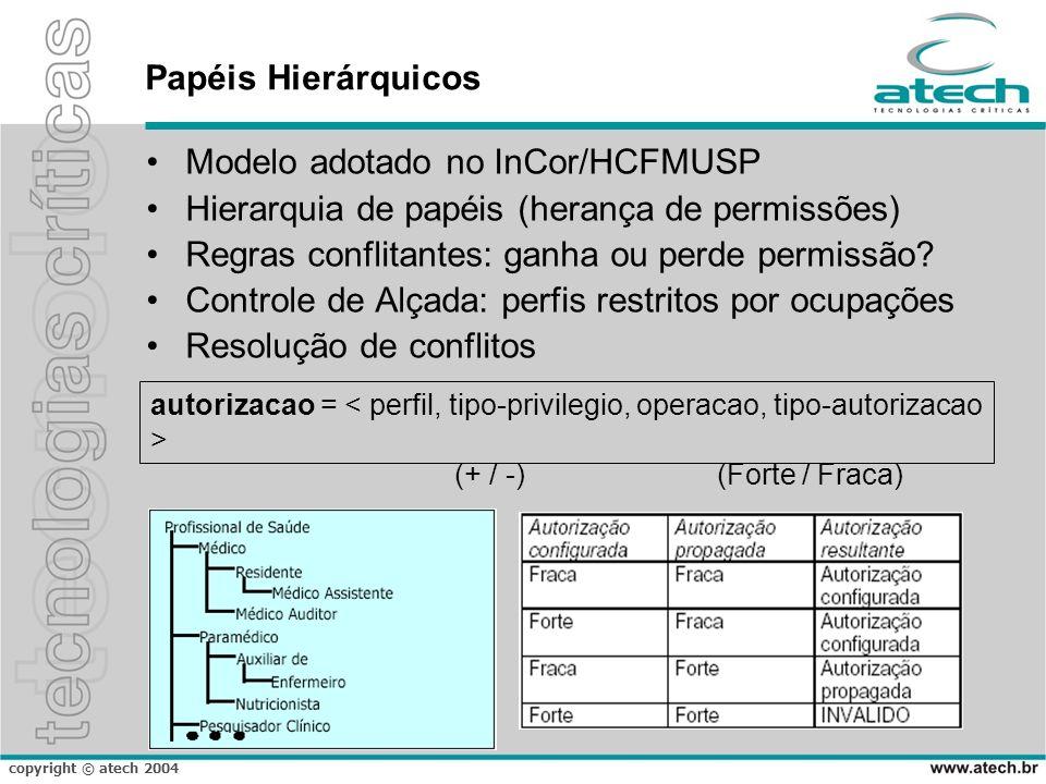 Modelo adotado no InCor/HCFMUSP