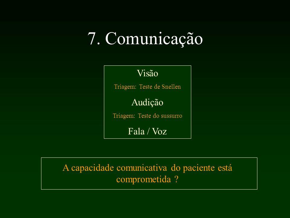 7. Comunicação Visão Audição Fala / Voz
