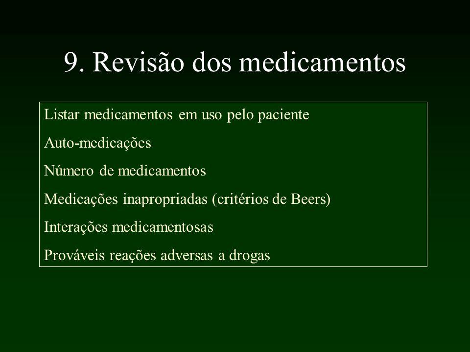 9. Revisão dos medicamentos