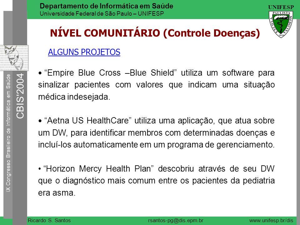 NÍVEL COMUNITÁRIO (Controle Doenças)