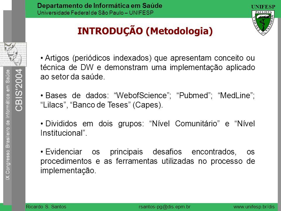 INTRODUÇÃO (Metodologia)