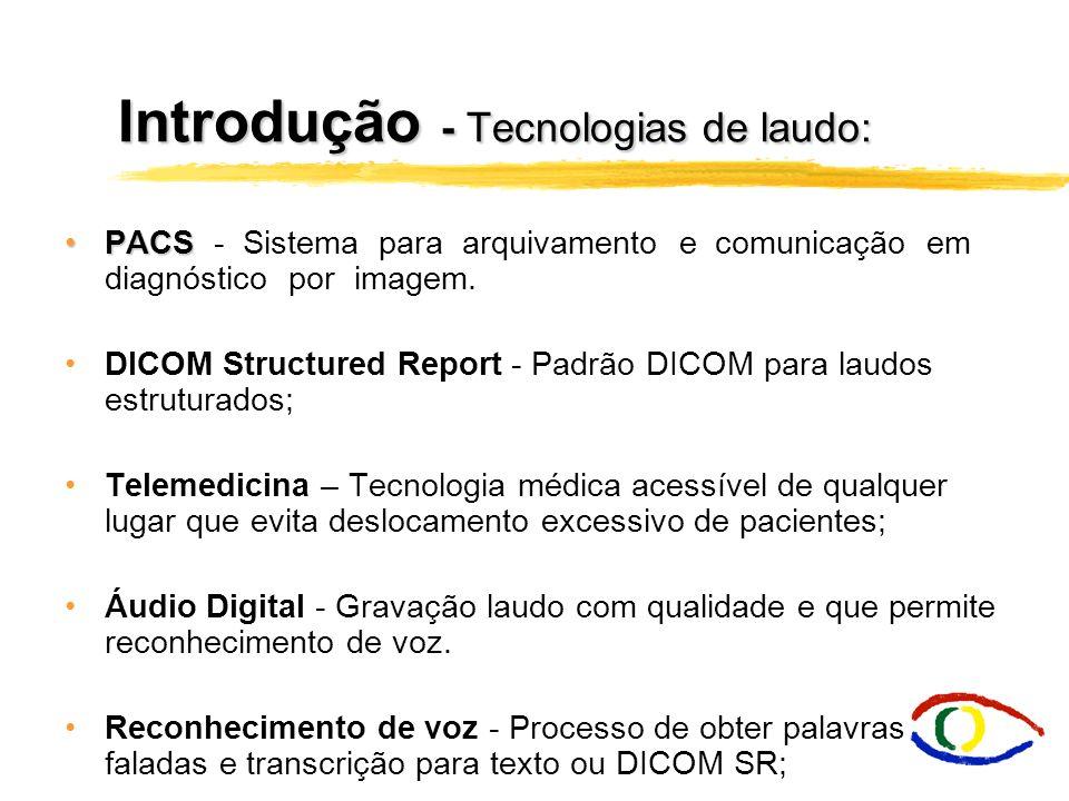 Introdução - Tecnologias de laudo: