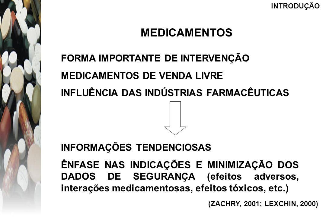 MEDICAMENTOS FORMA IMPORTANTE DE INTERVENÇÃO