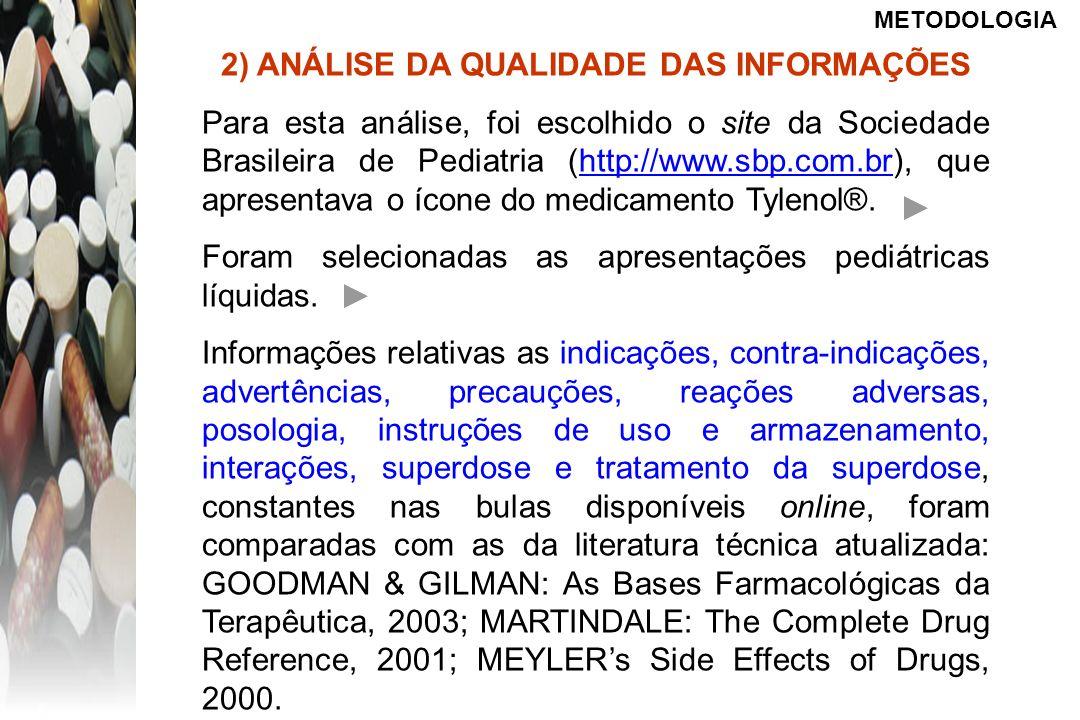 2) ANÁLISE DA QUALIDADE DAS INFORMAÇÕES