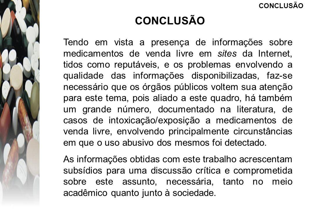 CONCLUSÃOCONCLUSÃO.