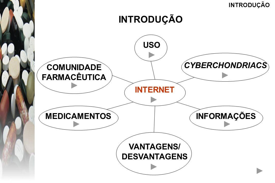 INTRODUÇÃO USO CYBERCHONDRIACS COMUNIDADE FARMACÊUTICA INTERNET