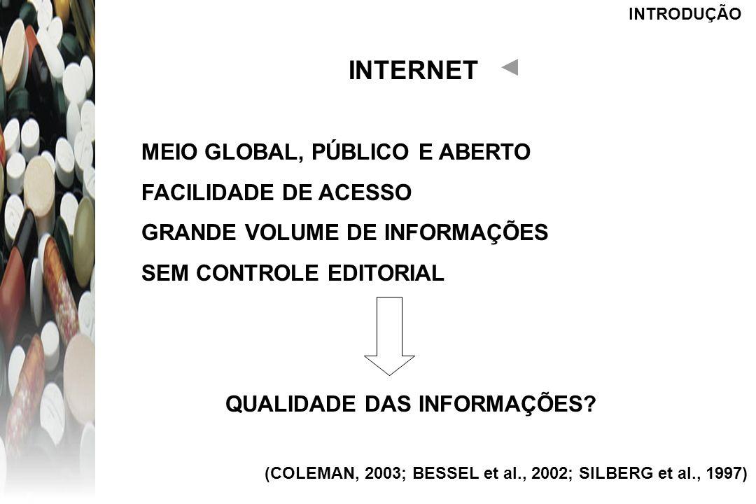 INTERNET MEIO GLOBAL, PÚBLICO E ABERTO FACILIDADE DE ACESSO