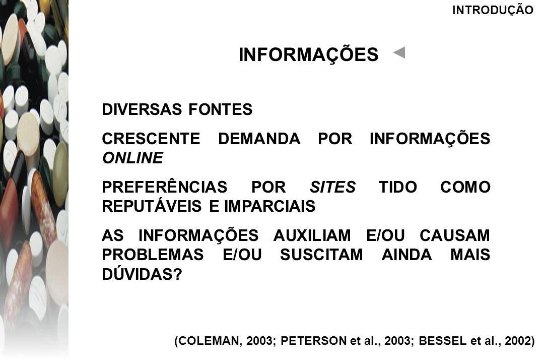 INFORMAÇÕES DIVERSAS FONTES CRESCENTE DEMANDA POR INFORMAÇÕES ONLINE