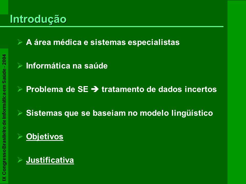 Introdução A área médica e sistemas especialistas Informática na saúde