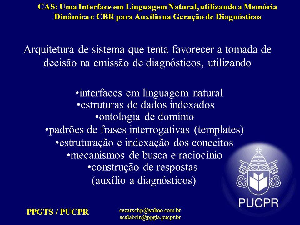 interfaces em linguagem natural estruturas de dados indexados