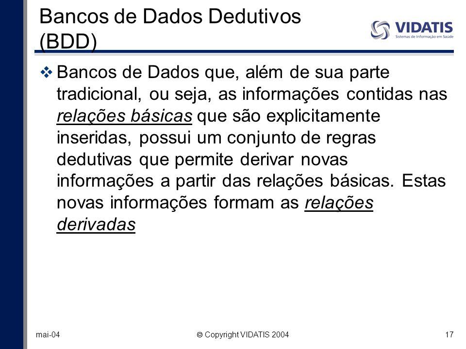 Bancos de Dados Dedutivos (BDD)