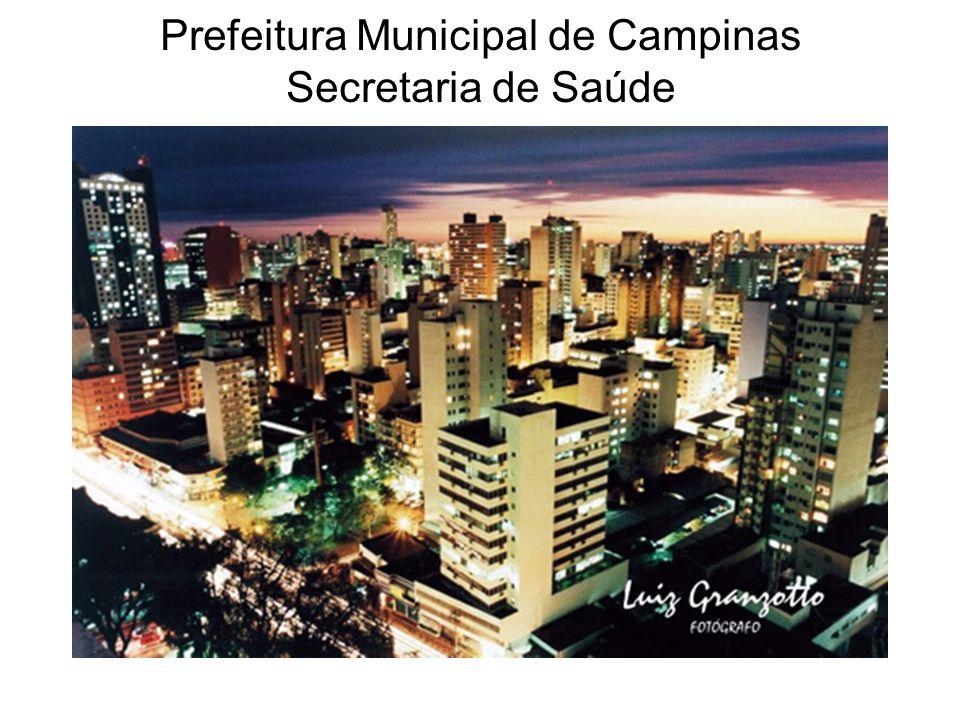 Prefeitura Municipal de Campinas Secretaria de Saúde