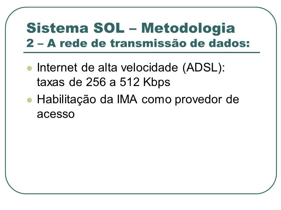 Sistema SOL – Metodologia 2 – A rede de transmissão de dados: