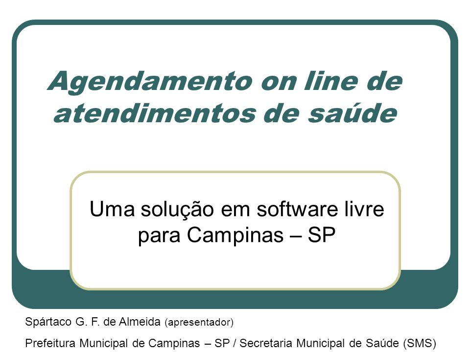 Agendamento on line de atendimentos de saúde