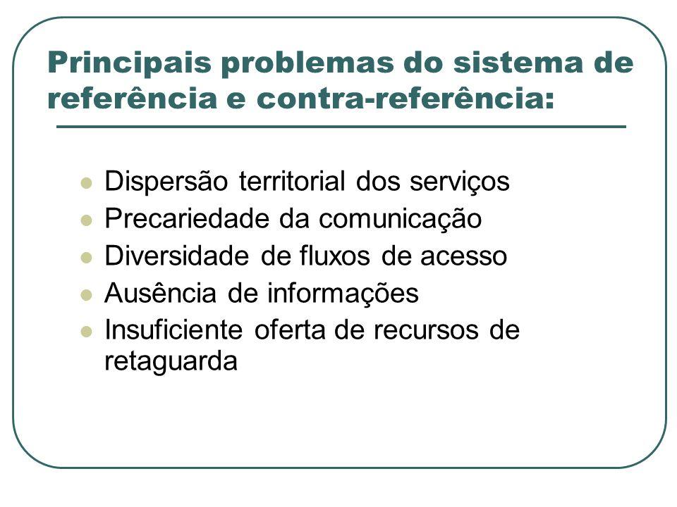 Principais problemas do sistema de referência e contra-referência: