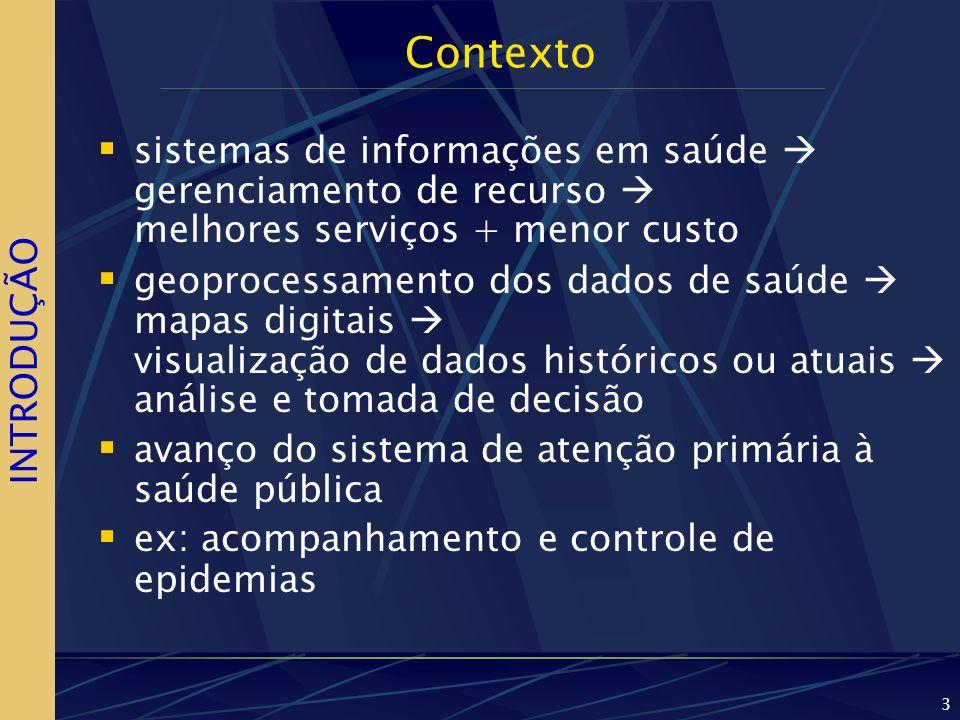 Contexto sistemas de informações em saúde  gerenciamento de recurso  melhores serviços + menor custo.