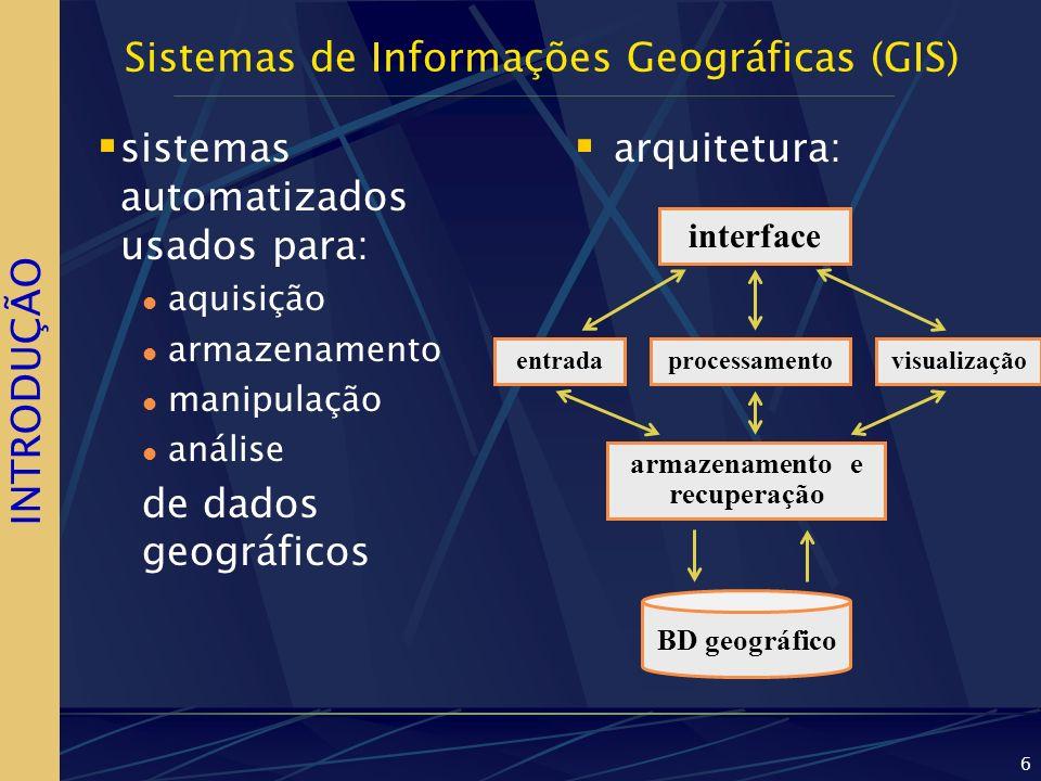 Sistemas de Informações Geográficas (GIS)